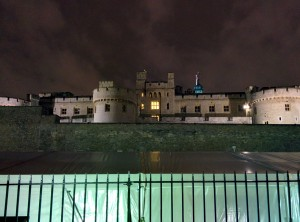Our first view of the Tower of London. There is a really creepy vibe here.